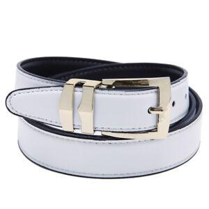 Men's Belt Reversible Bonded Leather Belts Gold-Tone Buckle XL Extra Large Sizes