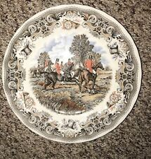 """England Herring's Hunt by Churchill Hunting Scenes """"The Find'' 10"""" Plate"""