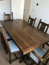 Genuine Wood Bros Old Charm Dining Set - Table, Chairs, sideboard, dresser - Oak