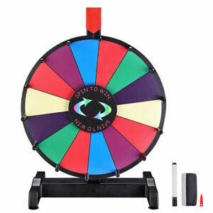 """12"""" Dry Erase Spinning Color Prize Wheel Tabletop Fortune Carnival Game Editable"""