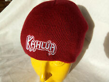 Kahlua Red Boggin Beanie Ski Cap Knit Hat Adult one size