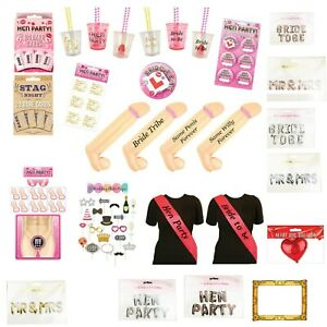 HEN PARTY NIGHT DO ACCESSORIES Games, Sash, Shot Glass, Photo Props, dare cards