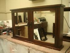 Primitive Mission Medicine Cabinet / 2 doors / Solid Wood # handmade #