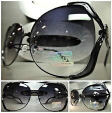 OVERSIZE LARGE VINTAGE 80s RETRO Style SUN GLASSES BOLD FASHION Huge Black Frame