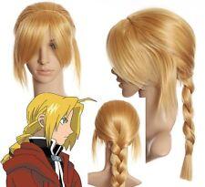 C317 - Fullmetal Alchemist EDWARD ELRIC langhaar Zopf Blond Perücke Wig