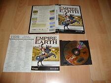 EMPIRE EARTH 1 ESTRATEGIA HISTORICA DE SIERRA PARA PC USADO COMPLETO CAJA FINA