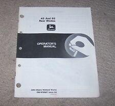 John Deere 45 & 65 Rear Blade Operators Manual  Used