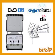 AMPLIFICATORE TV DA PALO 30DB 1 VHF 2 UHF ALTO GUADAGNO AUTO CC 1 USCITA 21 60 3