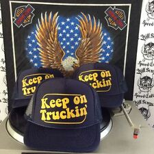 KEEP ON TRUCKIN' vanner party chopper 70s vtg trucker hat crumb lowbrow rat fink