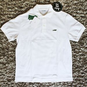 Lacoste Save Our Species Iconic Polo Shirt Hawaiian Monk Seal Size 4 5 M L New
