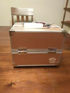 Caboodles Adored 4-Tray Train Case - Rose Gold Travel Health & Beauty NEW