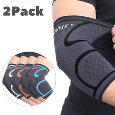 Elbow Sleeves PAIR Support & Compression for Weightlifting Power-lifting Elastic
