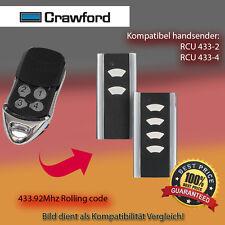 Handsender Garagentorantriebe 433,92 MHz CRAWFORD RCU 433-2 Funksender
