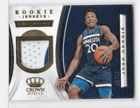 2018-19 JOSH OKOGIE #/10 JERSEY PATCH PANINI CROWN TIMBERWOLVES ROOKIE