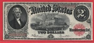 ***  1917  $2.00 U S NOTE RED SEAL   ****