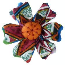 Pince à cheveux bibi broche fleur tissu multicolore cérémonie soirée mariage