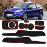 Car Gate Slot Mats Soft Rubber Door Panel Mats for Ford Fiesta ST 2008- 2015 MK6