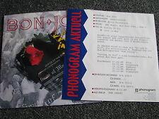 Bon Jovi-Living in sin 7 ps-1989 Germany-PROMO SHEET - 45 giri/min-Vertigini-METAL