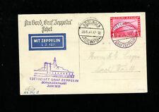 Zeppelin Sieger 112Ab Schwaben Boblingen Flight Germany Bordpost  on Zep Card