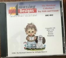 Amazing Designs Morehead Coll 2 Bay Kids Friends Embroidery Card Bl-Br-Be