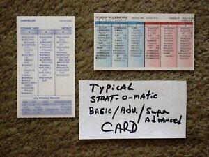 STRAT-O-MATIC BASEBALL 1948 Cleveland Indians Team set. World Champions!25 cards