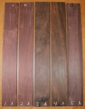 Madagascar rosewood guitar fingerboard blank. Flat sawn, Sold individually.