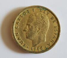 100 Cien Pesetas 1988 Aluminium-Bronze Münze, König Juan Carlos I.