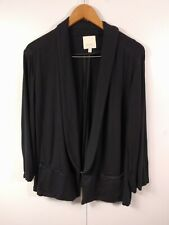 Sejour Women's Black Cardigan Sweater Top 3X Stretch