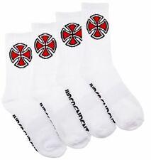 Independent OG Cross Socks 4 Pack White