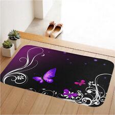 Butterfly Non-slip Door Floor Rug Mat Doormat Bathmat Bedroom Toilet Soft Carpet