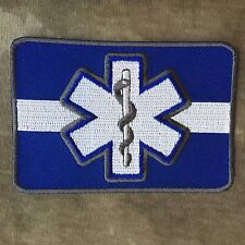 Thin White Line Star of Life EMT MEDIC Patch