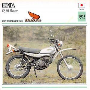 Stecker Foto Moto Japan Japan Honda 125 MT Elsinore 1973 Ausgabe Edito Service