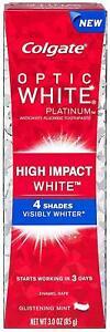 Colgate Toothpaste Glistening Mint Optic White High Impact 85G