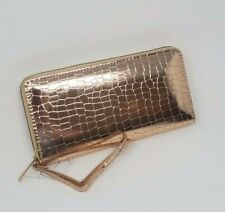 Womens Zip Around Wallet, Wristlet, Color: Rose Gold