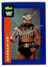 Barbarian Signed 1991 Classic WWF Card #122 WWE