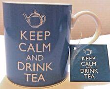 Keep Calm and Drink Tea Coffee Tea Mug Cup 15 oz Porcelain Kent Pottery NEW