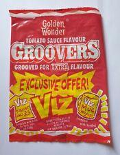 More details for crisp packet golden wonder groovers tomato sauce flavour 93/94 viz promotion