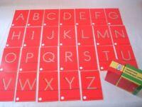 Didax Special Needs Set Fine Uppercase Tactile Sandpaper Letters Pre-K - Gr 1