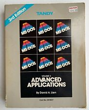1988 TANDY COMPUSOFT MS-DOS VOL2 Advanced Applications 3rd EDITION Book 25-1507