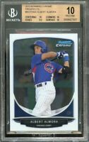 2013 bowman chrome prospects #bcp206a ALBERT ALMORA cubs rookie BGS 10 pristine