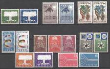 EUROPA ANNEE COMPLETE 1957 17 TIMBRES NEUFS xx TTB VALEUR 191€