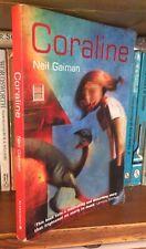 Coraline by Gaiman, Neil Paperback Bloomsbury 2003 1st Thus Illustr. Dave McKean