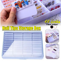 44Grids Nail Polish Display Card Color Chart Nail Tips Art Storage Manicure Case