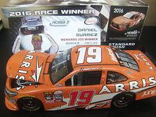 Autographed Daniel Suarez 2016 ARRIS #19 MICHIGAN WIN RACED 1/24 NASCAR