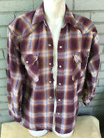 National Outfitters Heavy Flannel Brawny Pearl Snap Medium Western Shirt