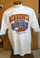 Vintage 2001 University Minnesota Golden Gophers NCAA Wrestling Champions Shirt
