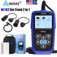 Nexas NL102 Heavy Duty Truck & Car HD Scan Diagnostic Code Reader Diesel Scanner