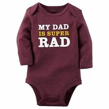 Infant Baby Boy Dad Daddy Graphic Long Sleeve Bodysuit, New 3M