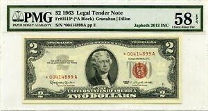 $2 1963 LEGAL TENDER STAR NOTE F 1513 *  LUCKY MONEY VALUE $150