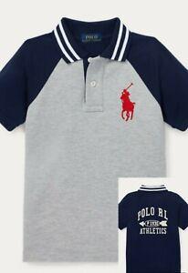 NEW Ralph Lauren Big Boys Polo Shirt S,M Big pony Polo Athletics P 1930 Grey